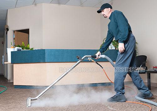 Máy giặt thảm hơi nước nóng sở hữu nhiều công năng vượt trội