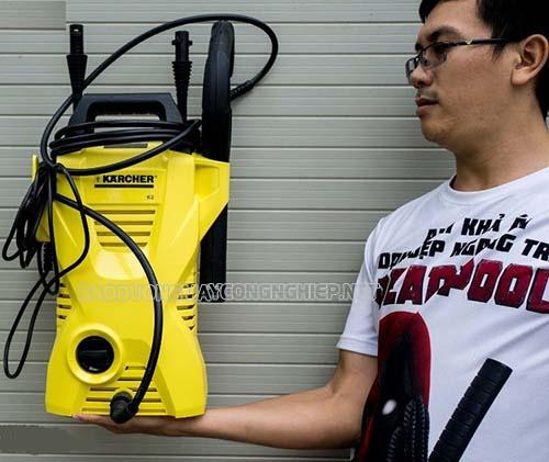 Máy rửa xe Karcher có tính thẩm mỹ cao, thiết kế hiện đại, thu hút sự chú ý của nhiều người tiêu dùng