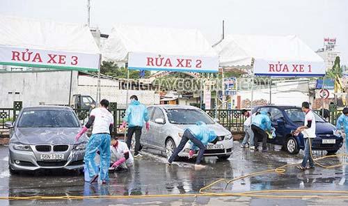 Mô hình trạm rửa xe truyền thống