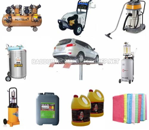 Bạn cần lên danh sách những thiết bị cần mua phục vụ cho tiệm rửa xe