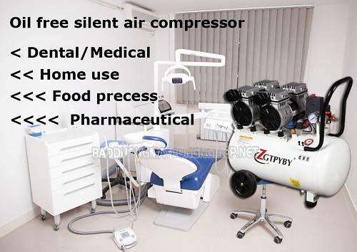 Sử dụng máy nén khí không dầu phục vụ hoạt động của các thiết bị nha khoa