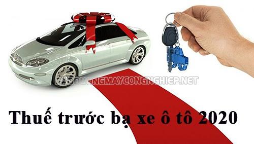thuế trước bạ xe ô tô