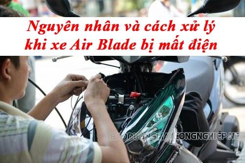 xe air blade bị mất điện