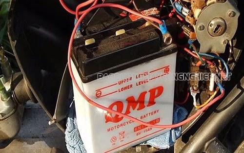 xe máy bị mất điện