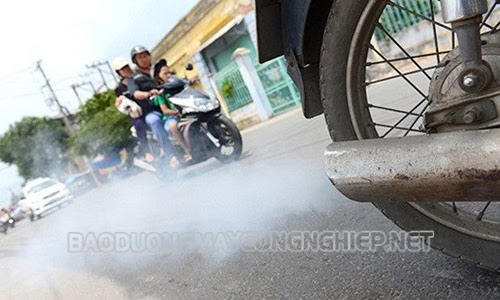 thay ron pô xe máy