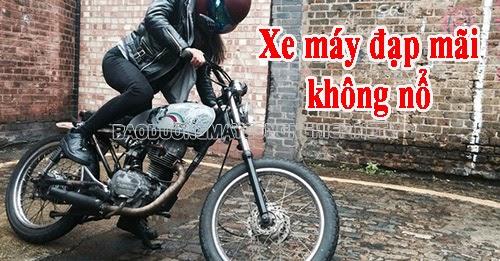 xe máy đạp mãi không nổ