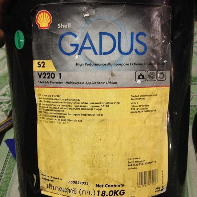 Mỡ bôi trơn Shell Gadus S2 V220-1 được nhiều người lựa chọn