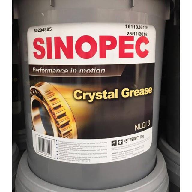 Mỡ bôi trơn Sinopec Lithium Grease No 3 chất lượng tốt