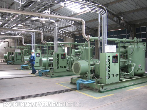Ảnh hưởng của vị trí đặt máy nén khí đến hiệu quả công việc