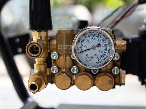 chỉnh áp suất máy rửa xe