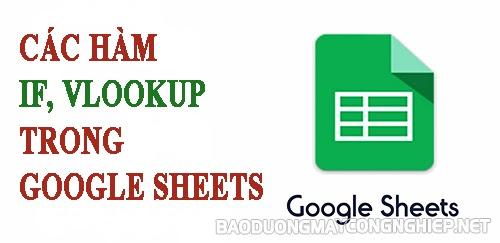 các hàm trong google sheet
