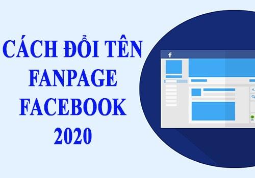 cách đổi tên fanpage 2020